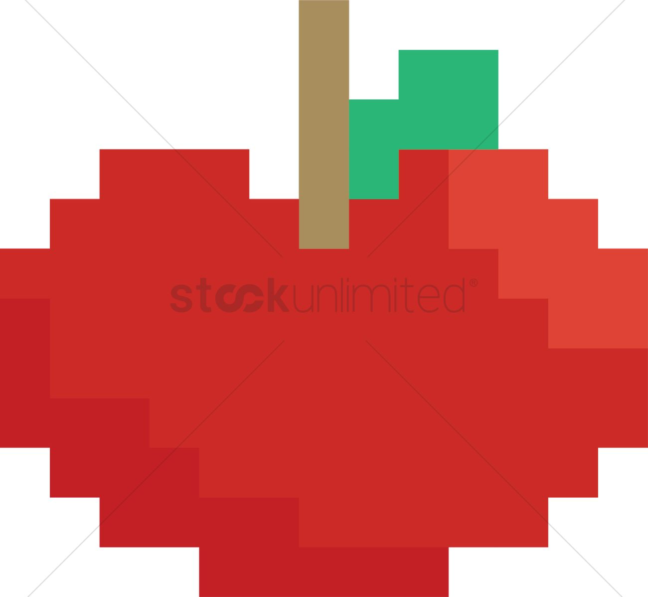 Pixel Apple Vector Image - 2021480