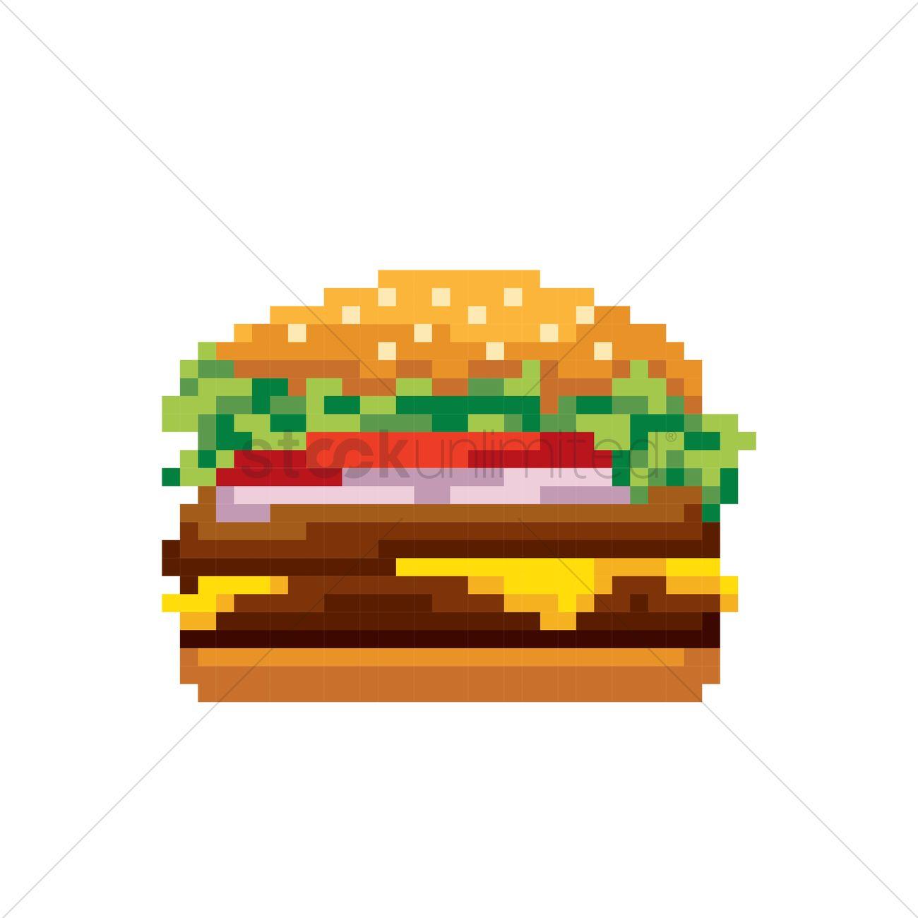 Pixel Art Burger