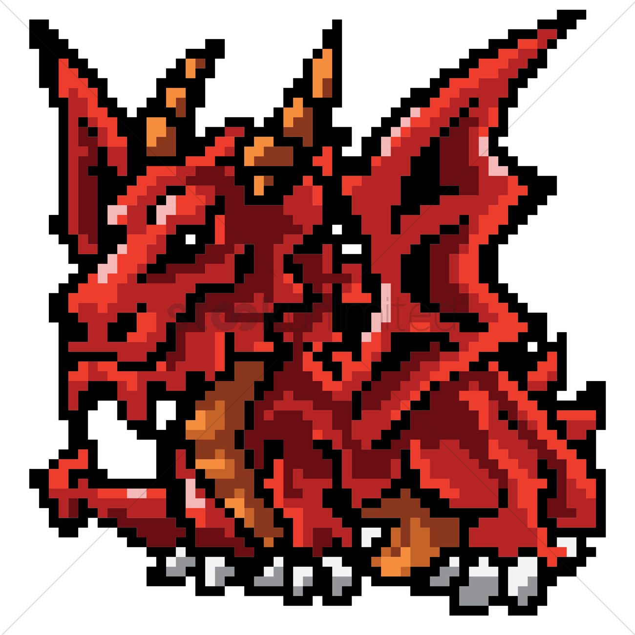 pixel art dragon