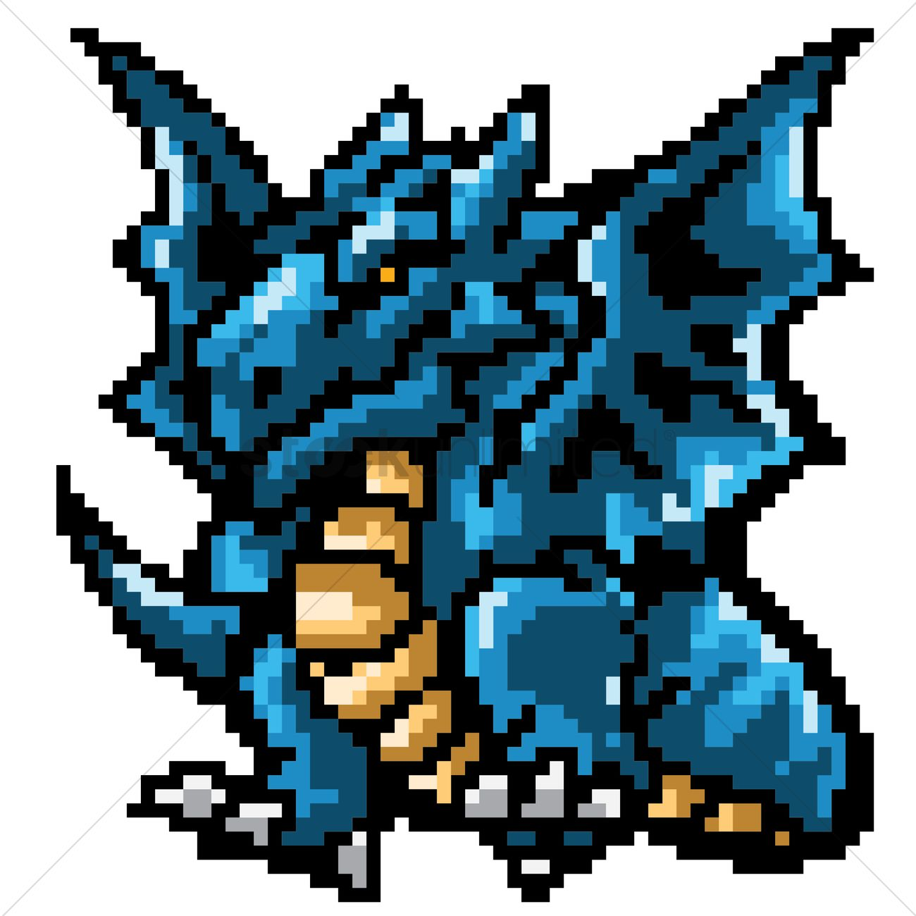 pixel art dragon