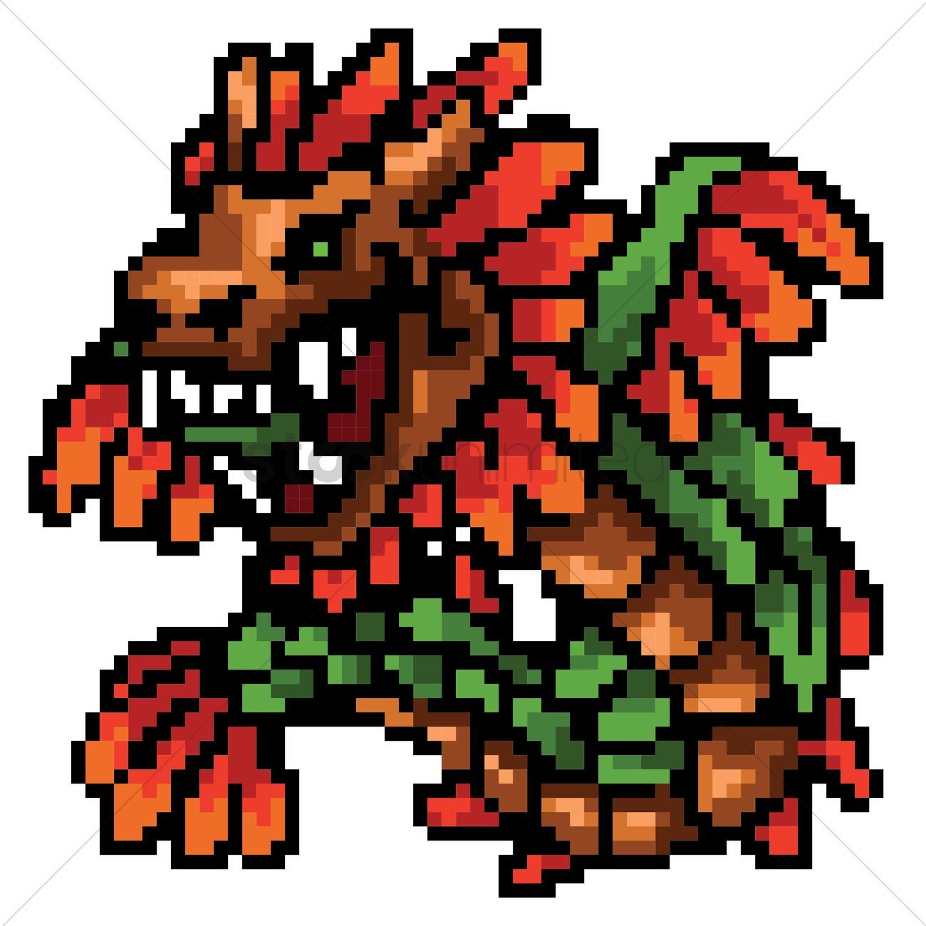 pixel art serpent