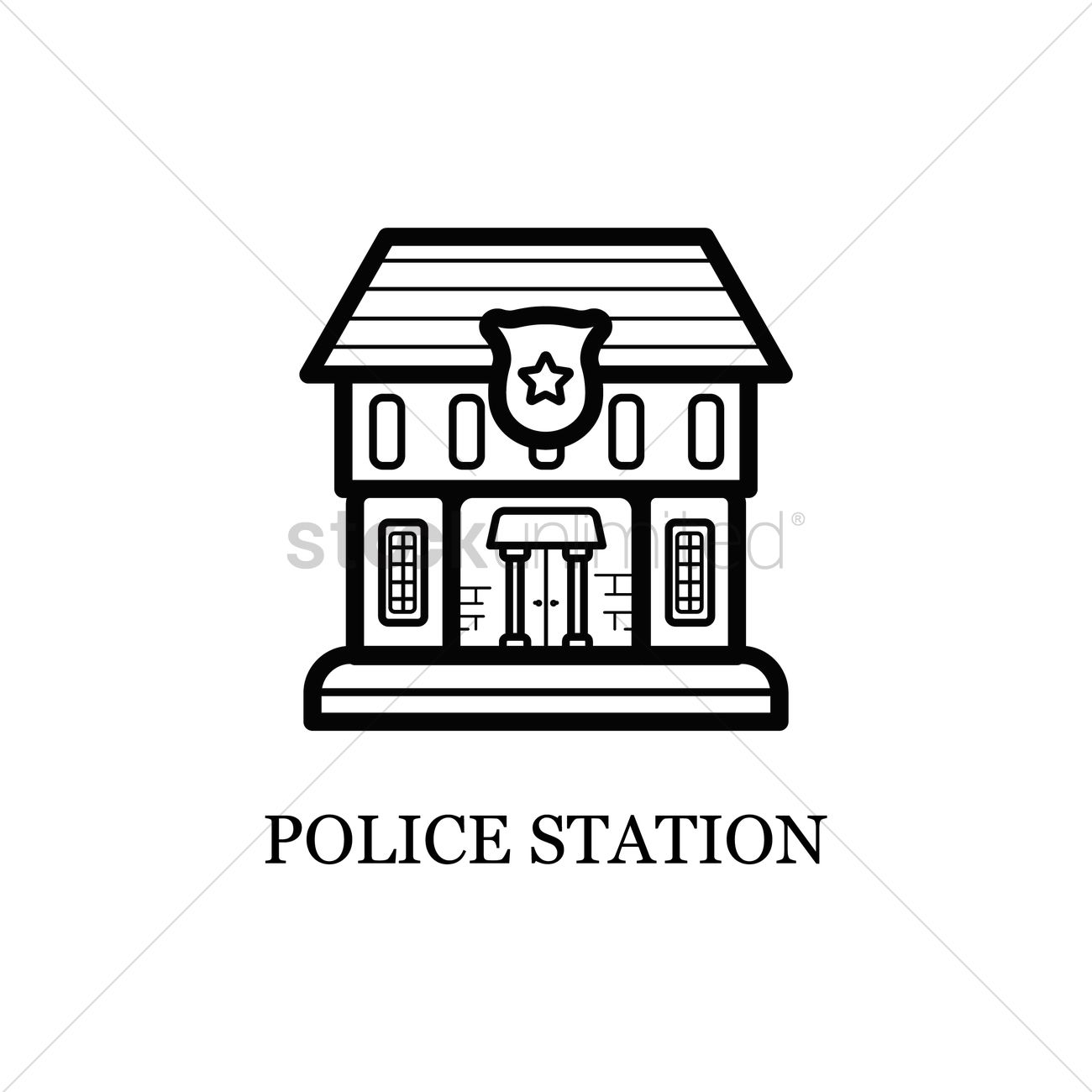 Police Station Black And White | www.pixshark.com - Images ... Police Station Building Clipart Black And White