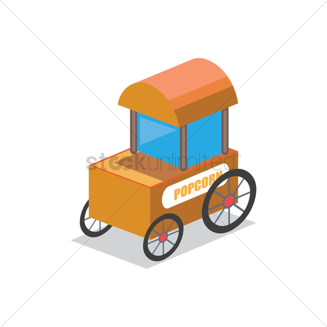 Popcorn cart Vector Image - 1601600 | StockUnlimited