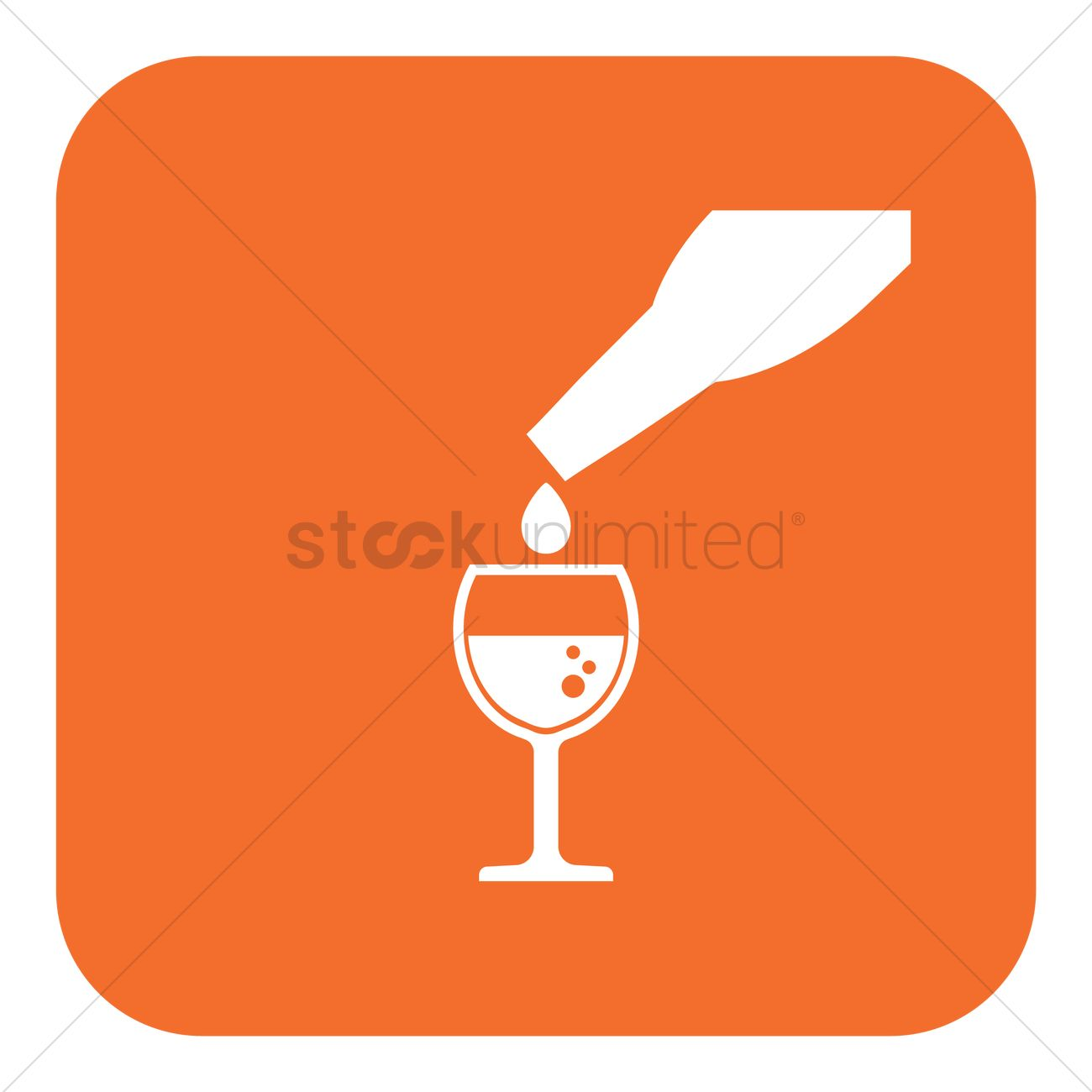 pouring wine into glass vector image 1514393