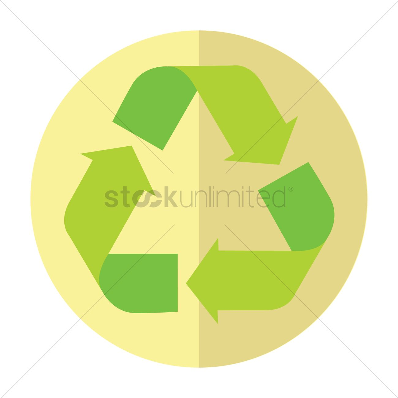 recycle logo vector image 1292772 stockunlimited