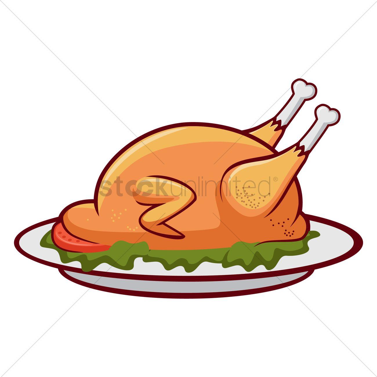 roast chicken clip art