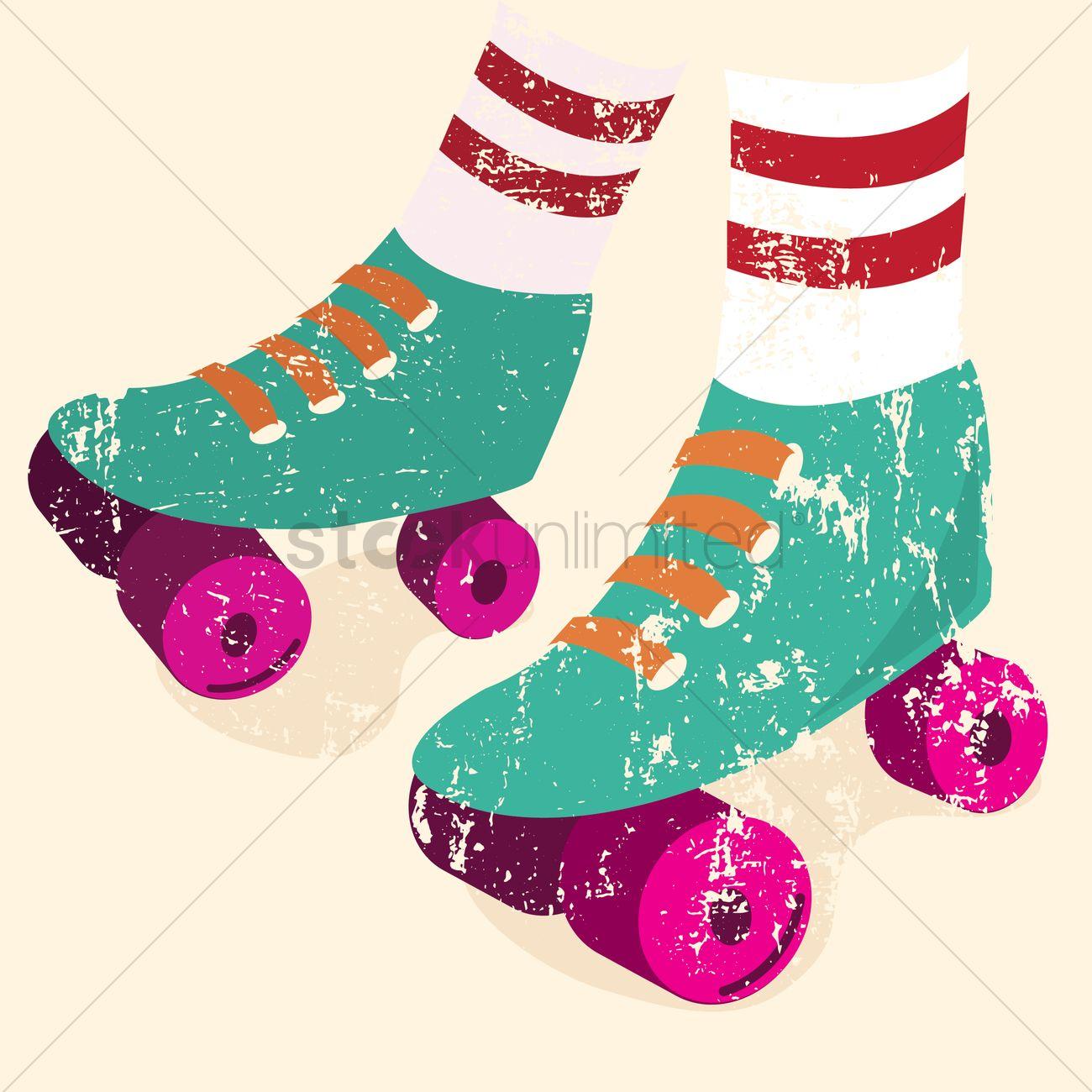 Roller skates for free - Free Roller Skates Vector Graphic