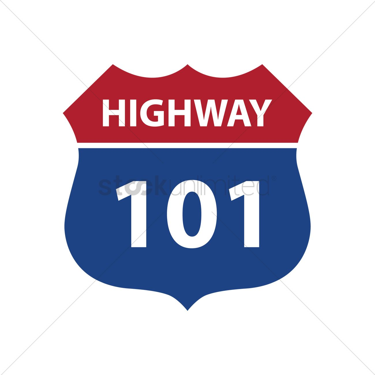 route 101 highway road sign vector image 1556979