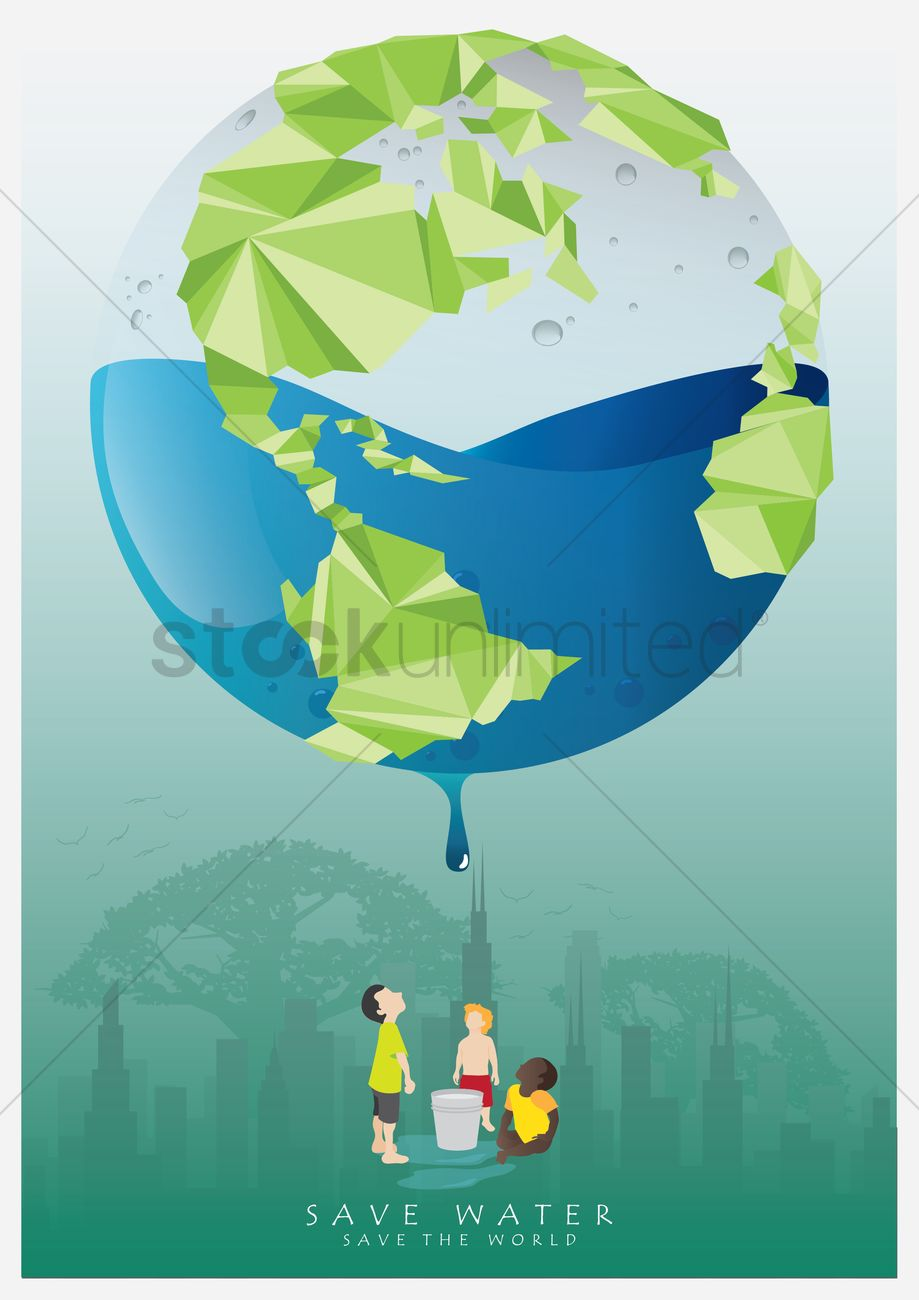 Save water poster Vector Image - 1562494 | StockUnlimited