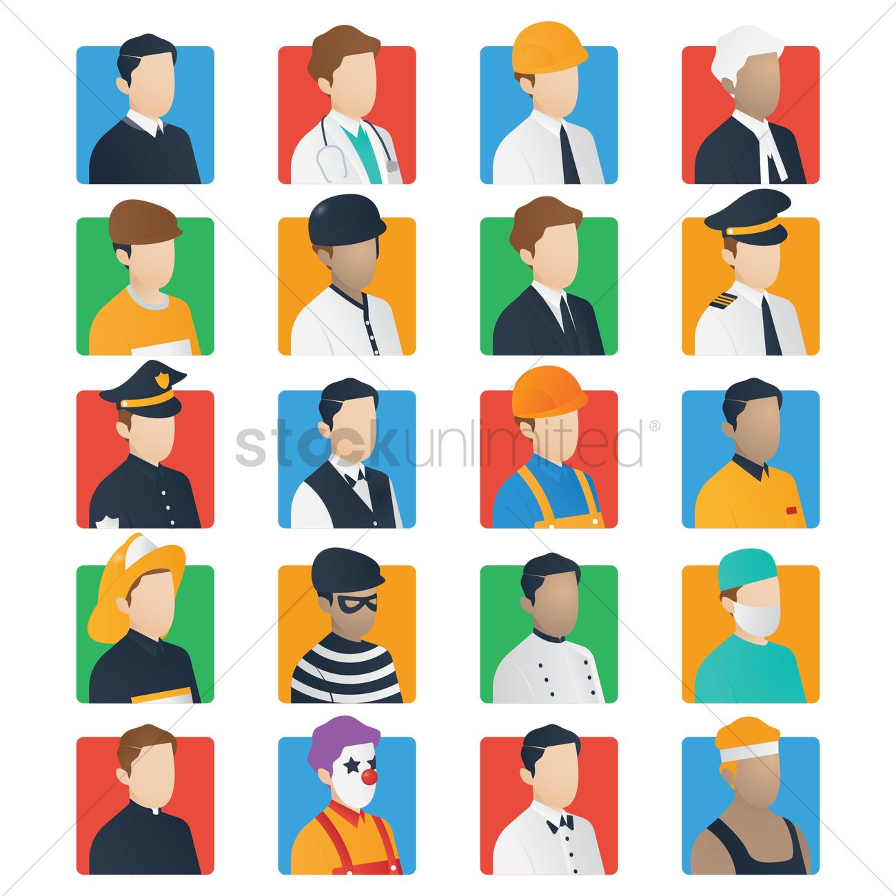 Set of job icons Vector Image - 1567082 | StockUnlimited