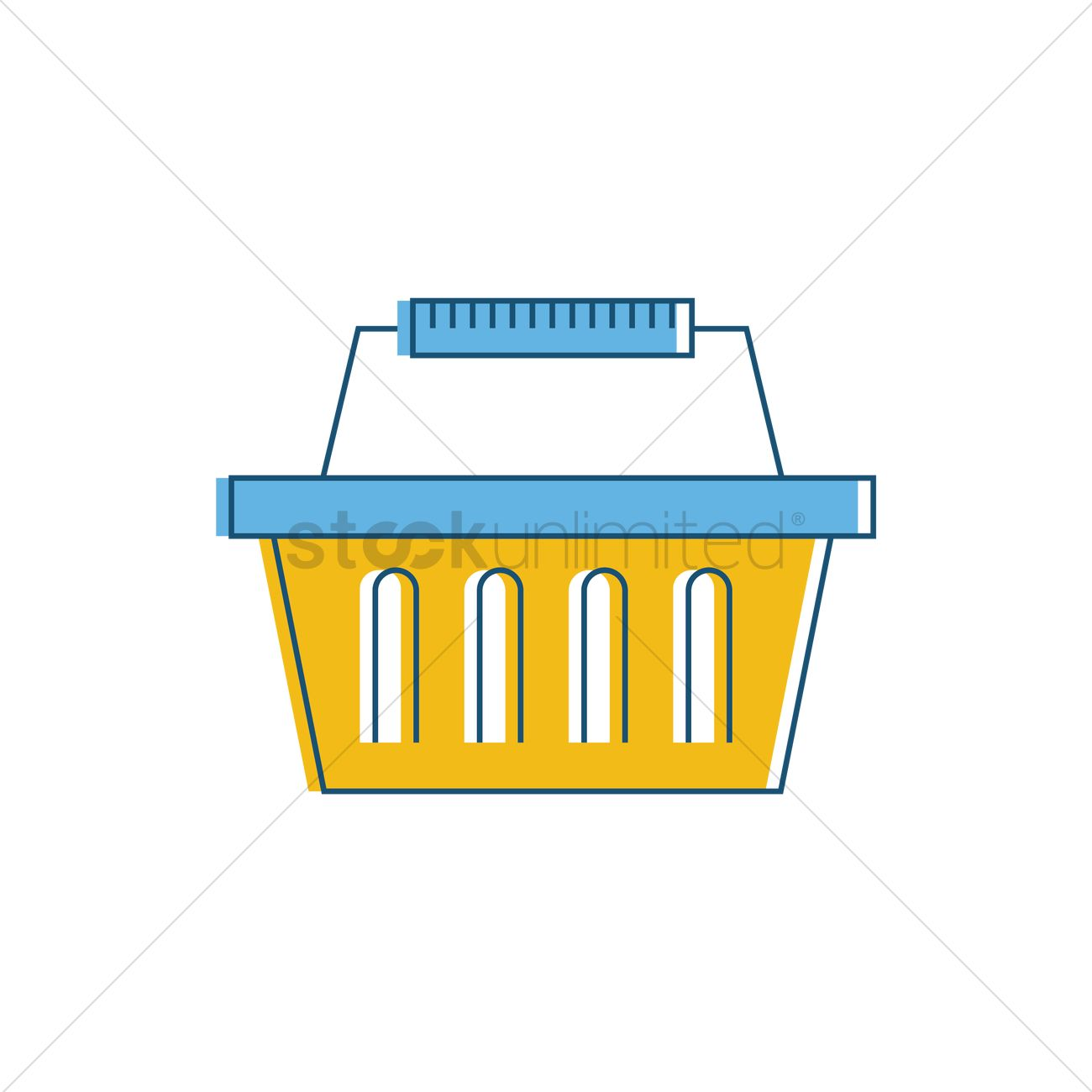Vector Clipart Shopping Basket : Ping basket vector image stockunlimited
