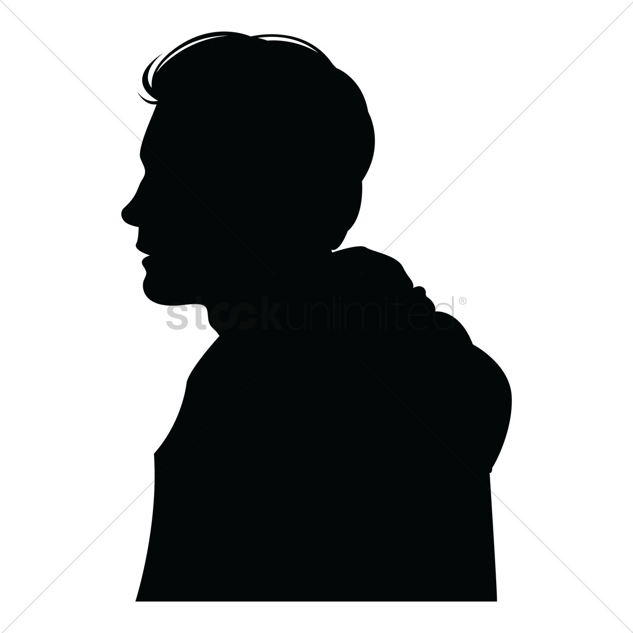 Side view of a silhouette man Vector Image - 1358867 | StockUnlimited