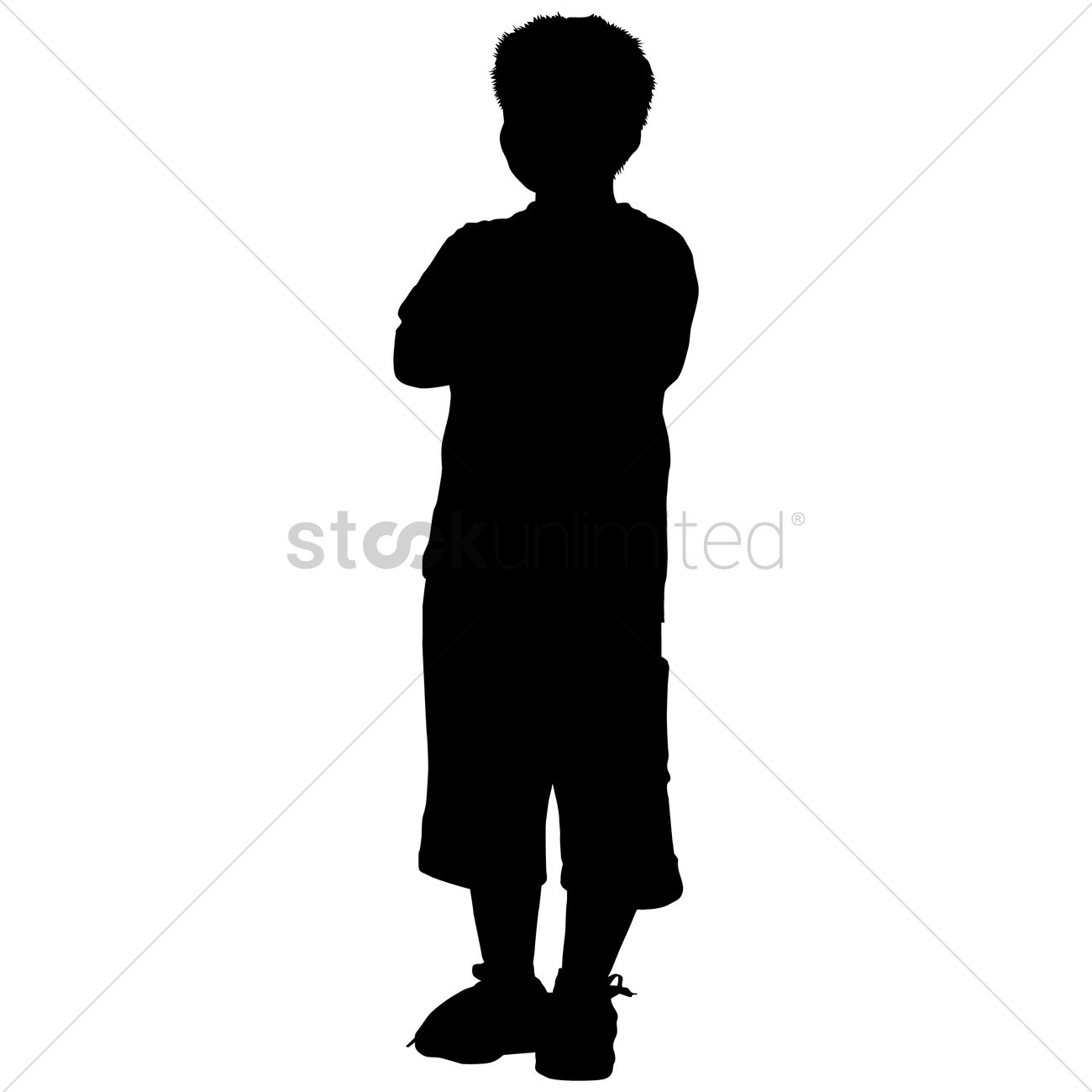 Silhouette of a boy standing Vector - 36.8KB
