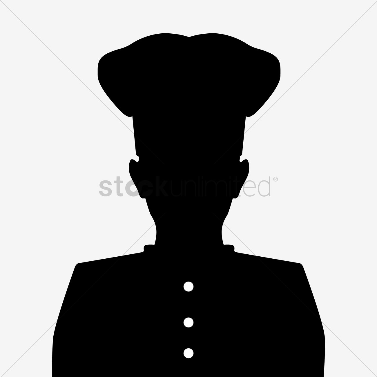 Silhouette of a chef Vector Image - 1441154 | StockUnlimited