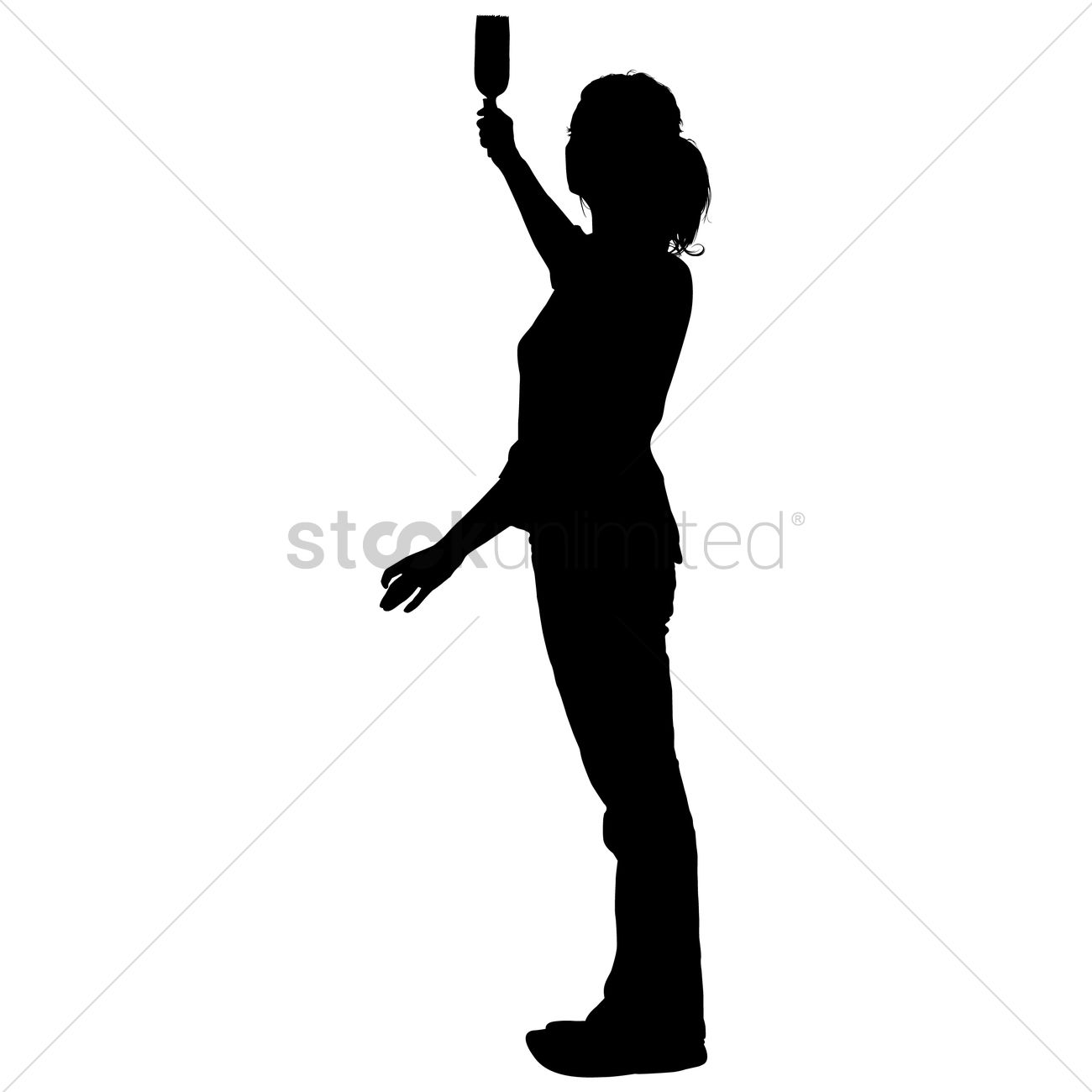 silhouette of a lady taking selfie vector image 1456010 stockunlimited. Black Bedroom Furniture Sets. Home Design Ideas