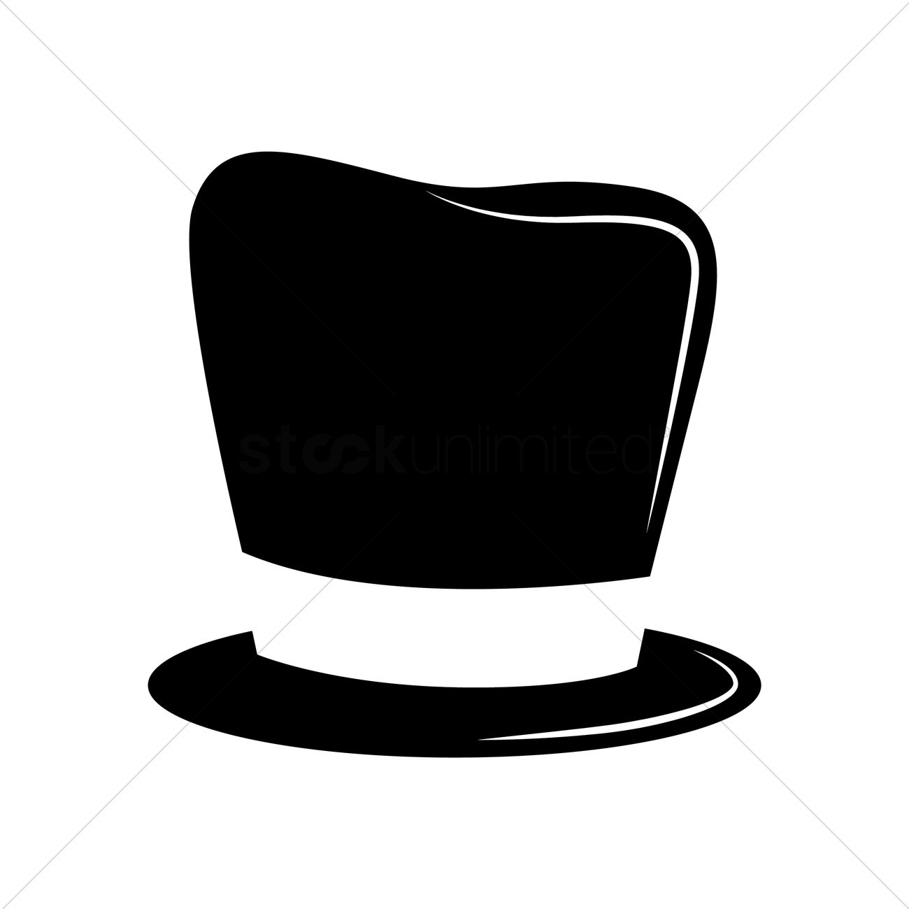 Silhouette of a magician's hat Vector Image - 1463994 ...