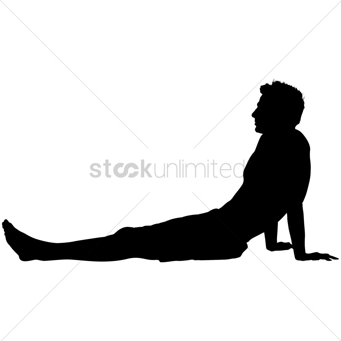 Silhouette of a man relaxing Vector Image - 1463443 ...