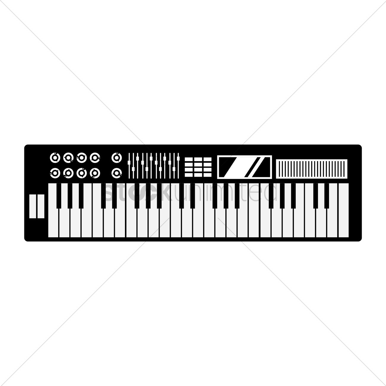 Free Silhouette of electronic piano Vector Image - 1461622 ...