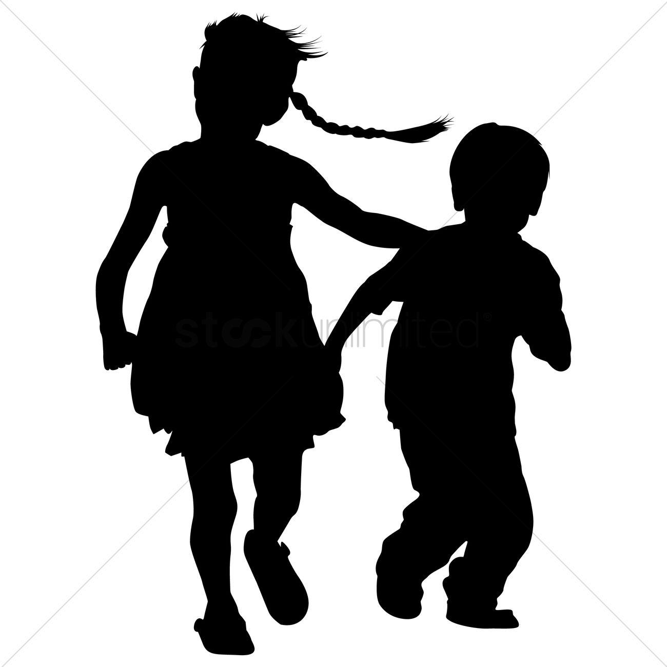 children playing silhouette - photo #16