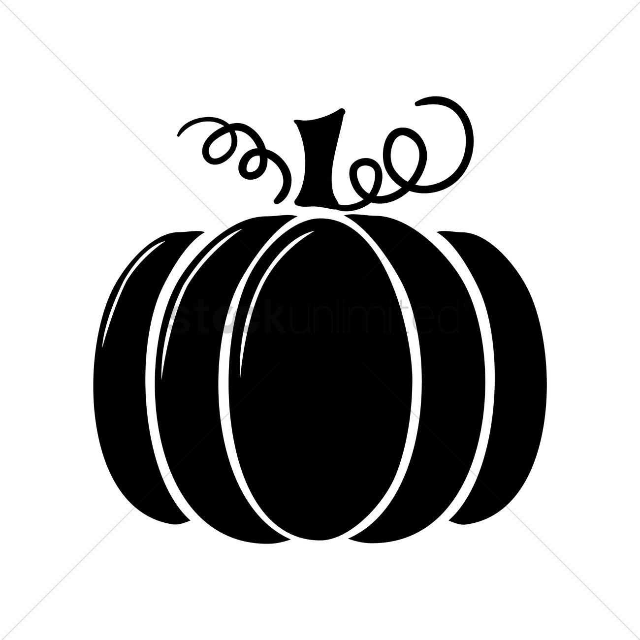 Silhouette of pumpkin Vector Image - 1447191 | StockUnlimited