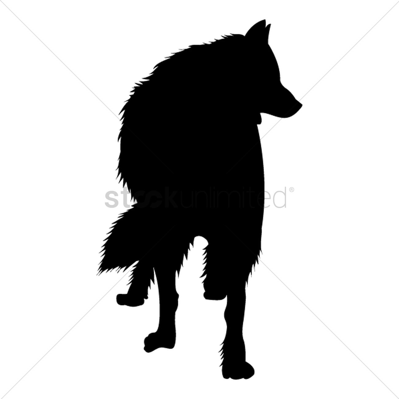 Silhouette of wolf Vector Image - 1501690   StockUnlimited