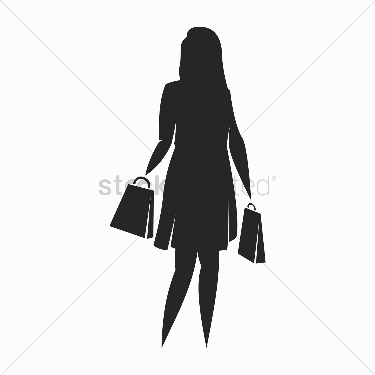 Woman Holding Shopping Bags Clipart | www.pixshark.com ...