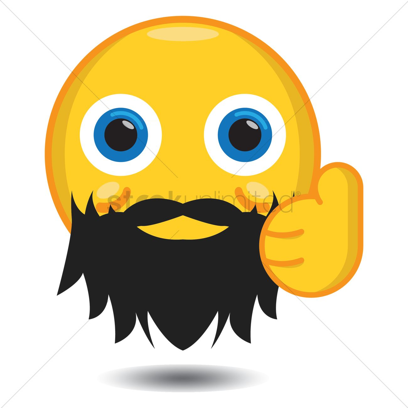 smiley with beard showing thumbs up vector image 1282015 mustache clip art free mustache clip art free