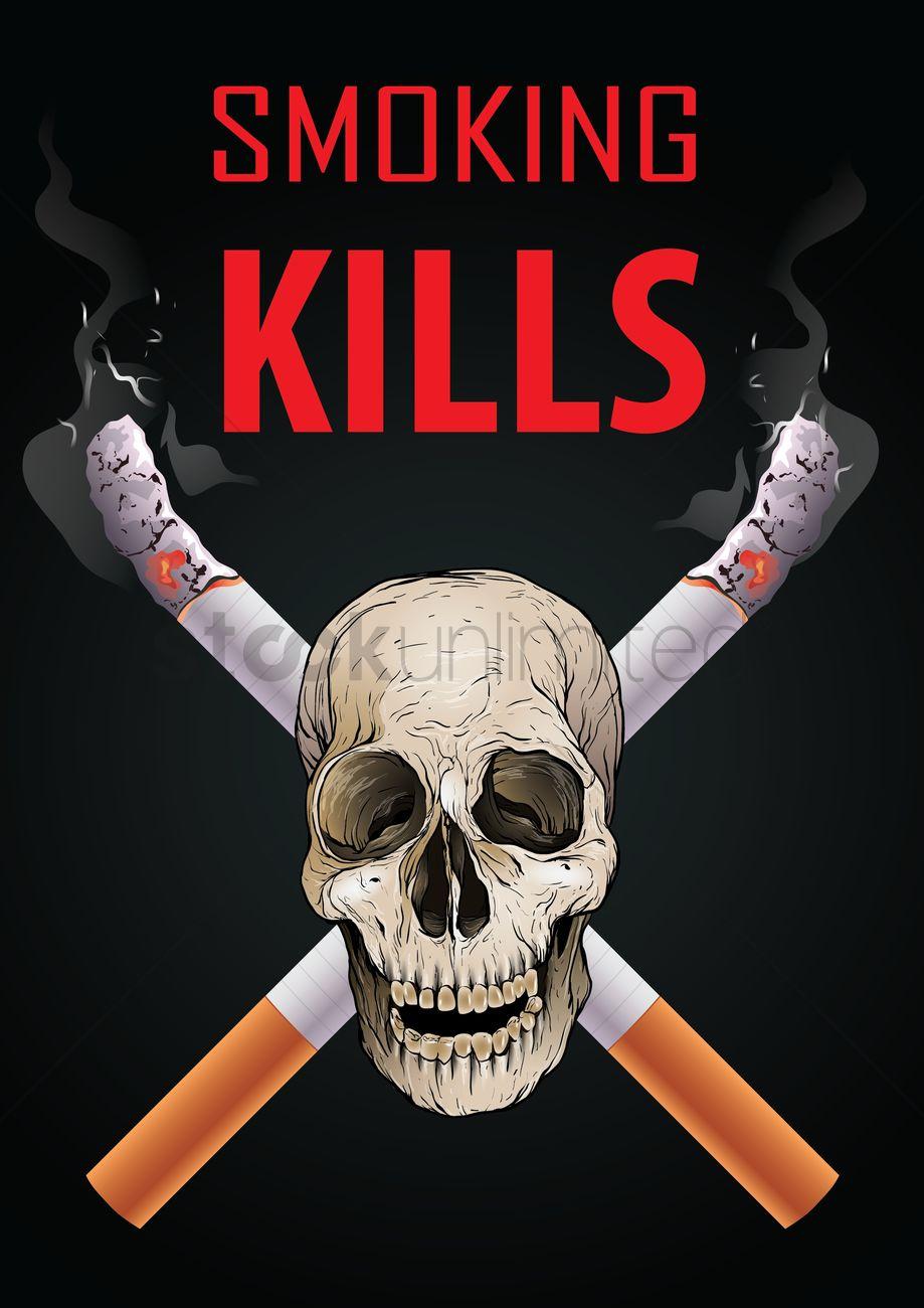 Smoking Kills Poster on Drawing Page