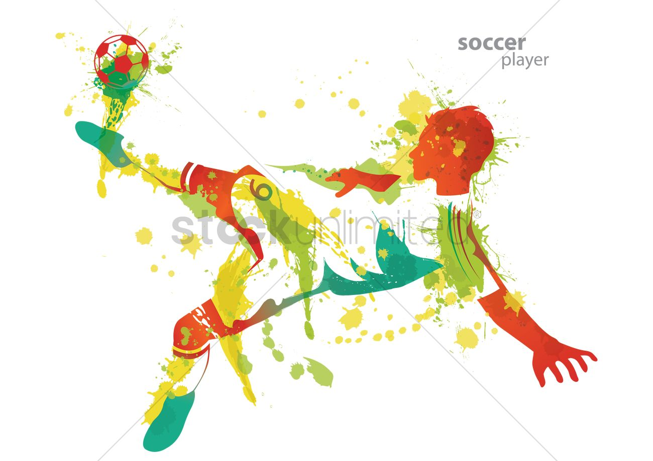 soccer player kicks a ball vector image 1515564 clipart of soccer balls clipart of soccer ball
