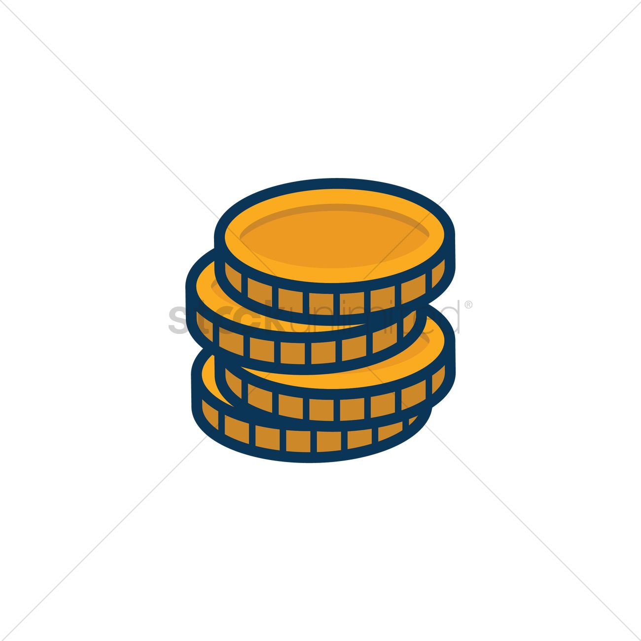Stack of coins Vector Image - 1872706 | StockUnlimited