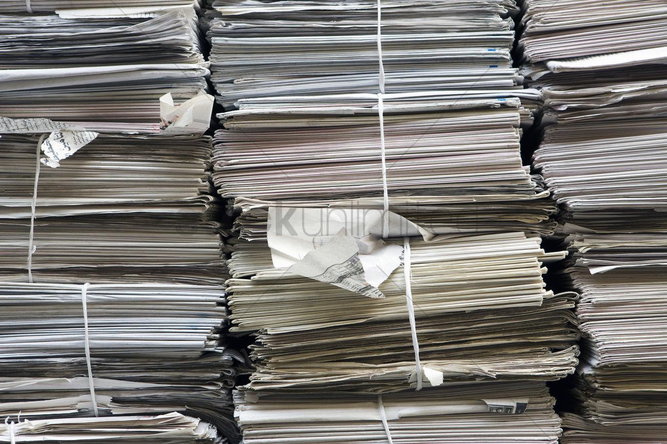Stacks Of Paper Full Frame Stock Photo