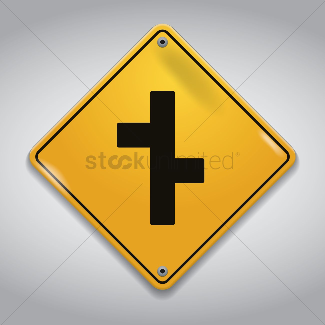 Y Intersection Sign Y Intersection Road Si...