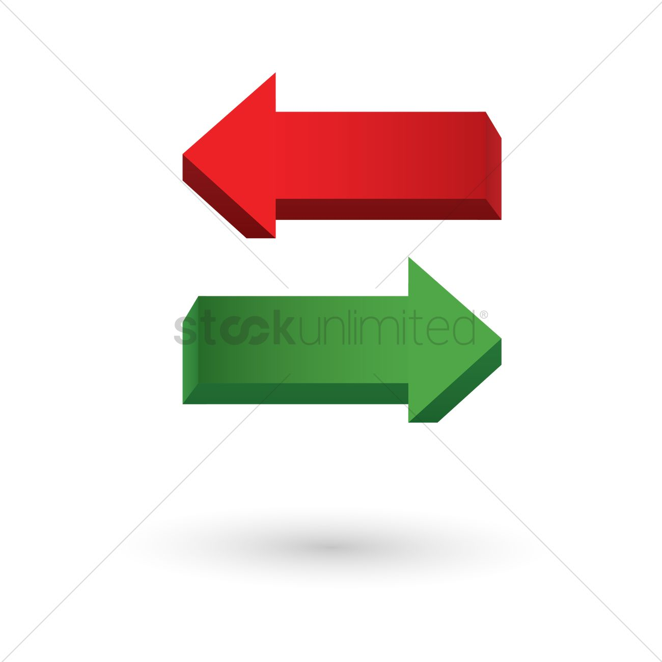 Substitution arrow Vector Image - 1374982   StockUnlimited