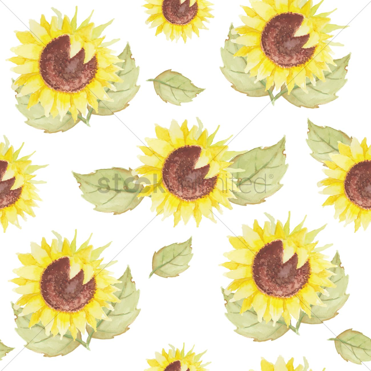 sunflowers background vector image 1807431 stockunlimited