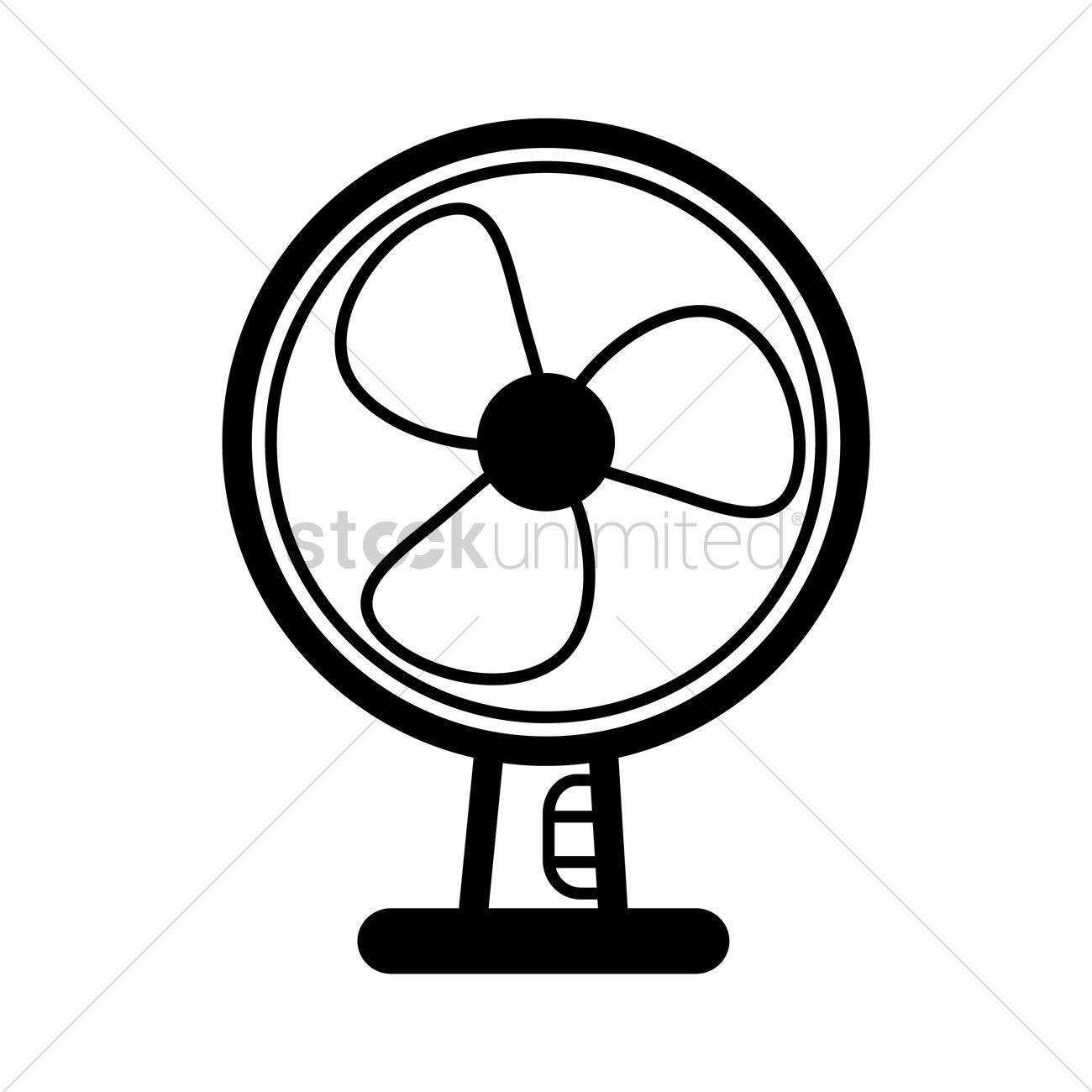 Animated Desk Fan : Table fan vector image stockunlimited