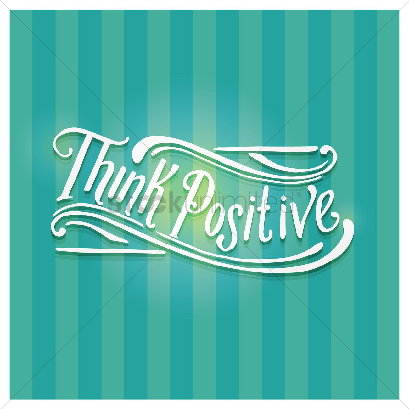 think positive quote vector image 1571036 stockunlimited