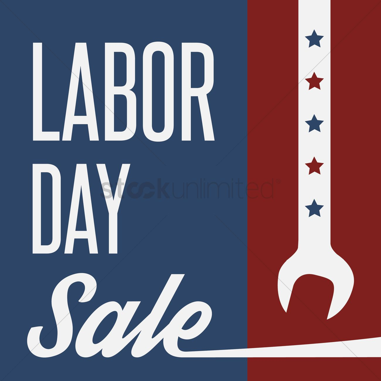 Labor Day Sale: Us Labor Day Sale Vector Image - 1558131