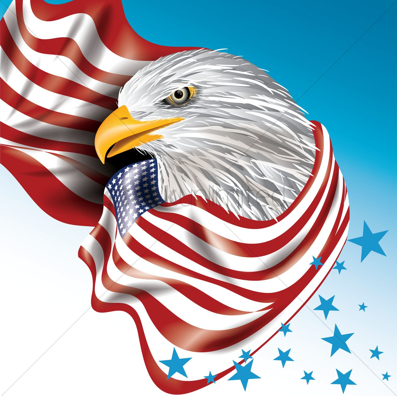 usa eagle design vector image 1553380 stockunlimited American Flag with Eagle Graphic American Flag Day Graphics Free