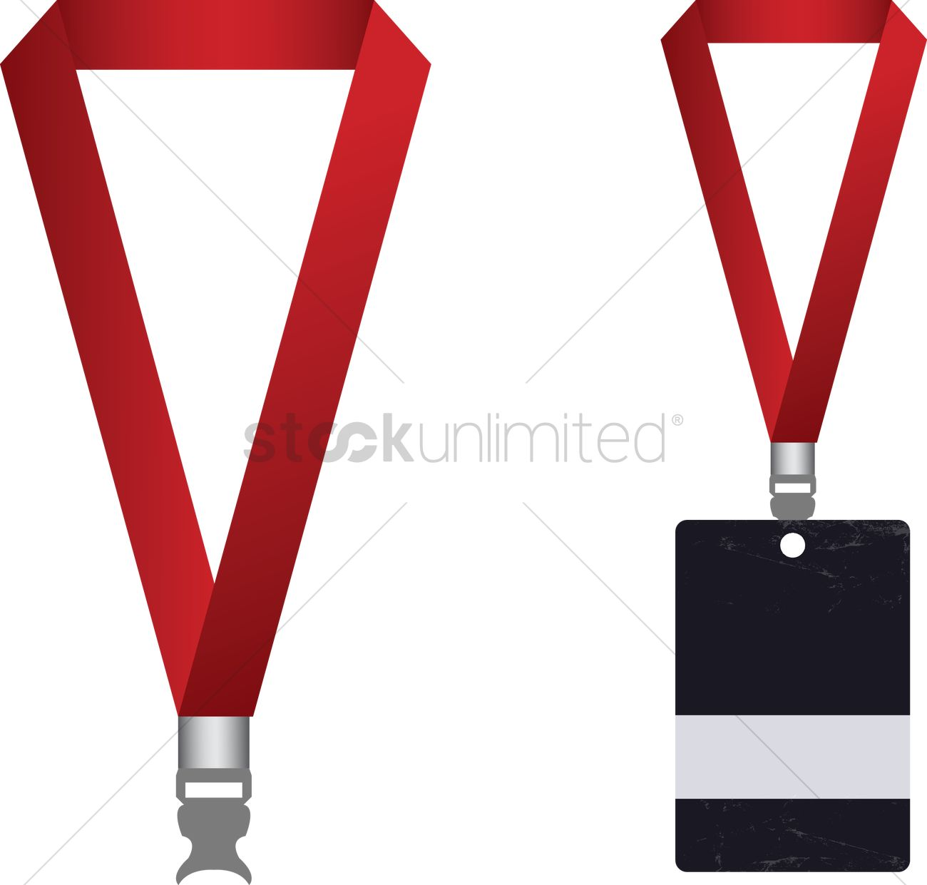 Vector of access card and lanyard vector image 1234648