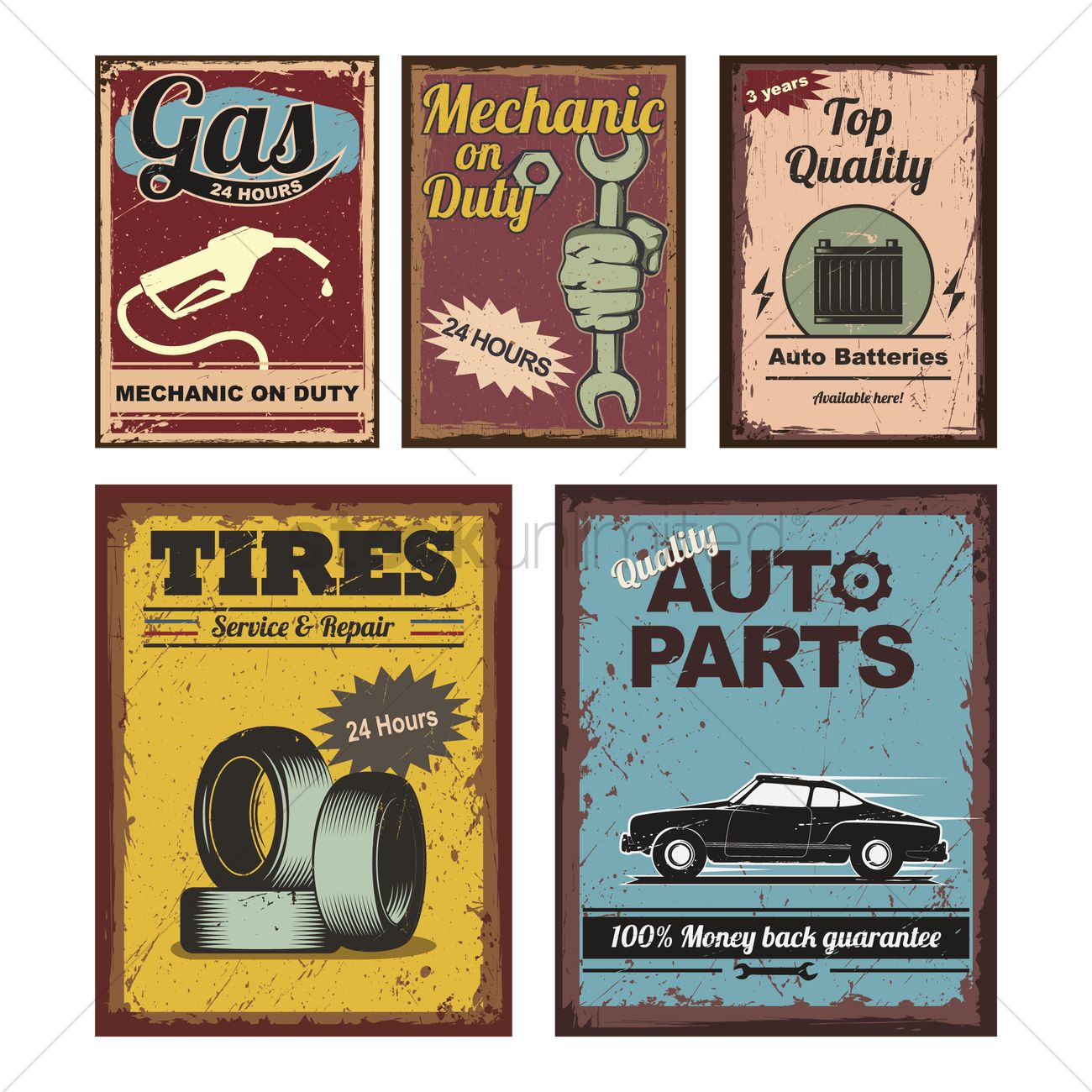 Vintage car posters Vector Image - 1515550   StockUnlimited