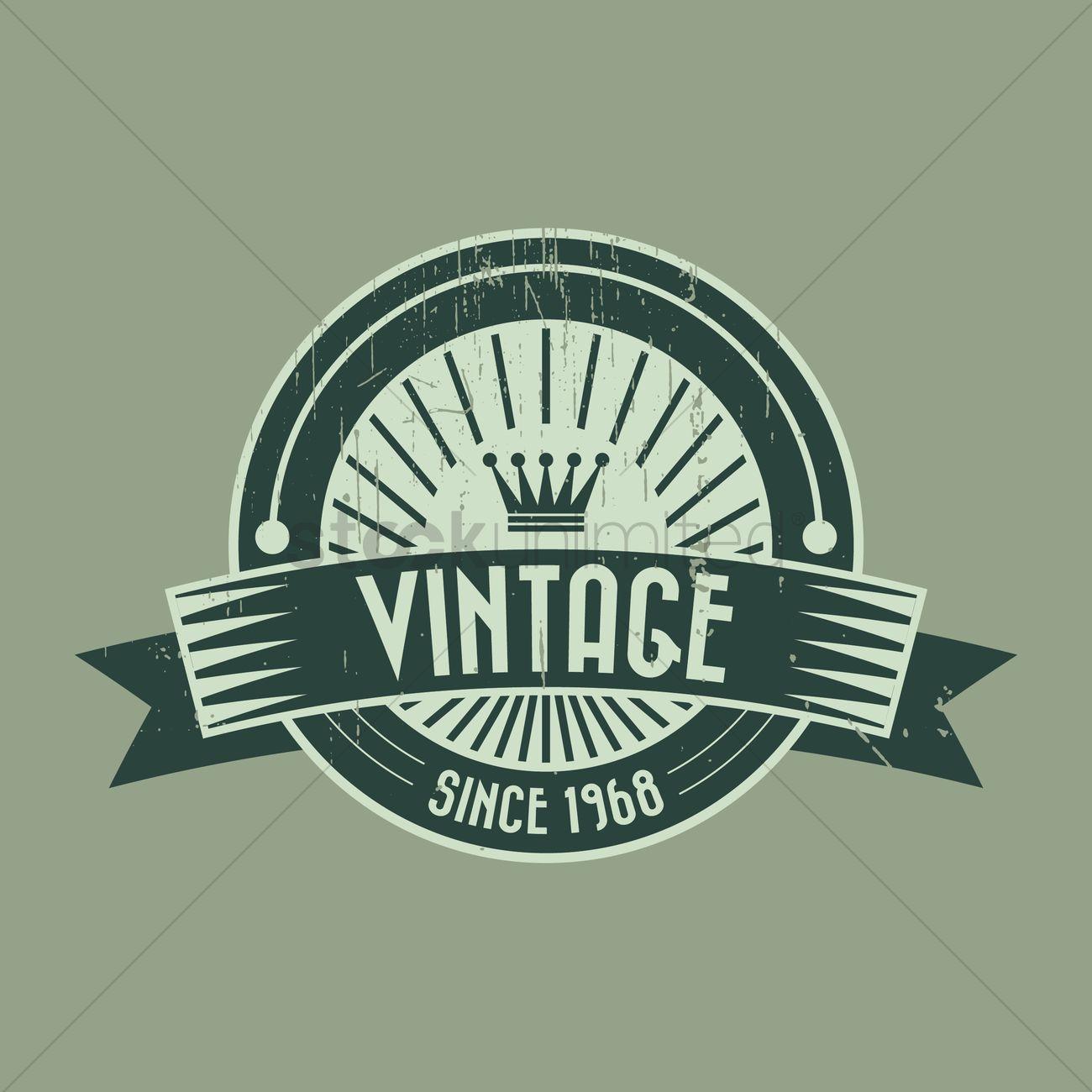 Vintage product label design Vector Image - 1444023 ...