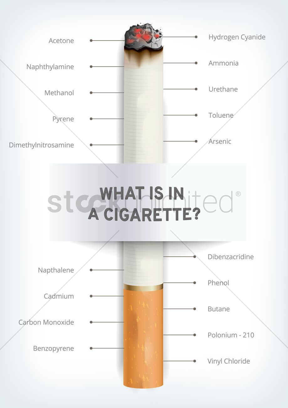 What is in a cigarette? poster design Vector Image - 1959247 ...