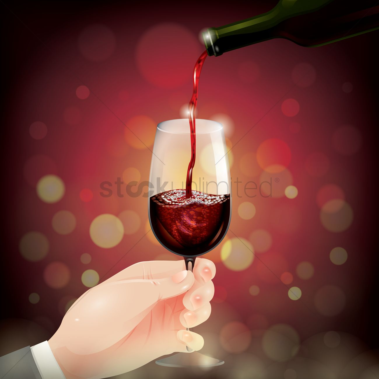 wine pouring into glass vector image 1536023