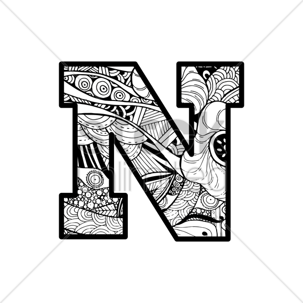 drawings of letters letter n vector image 1544052 stockunlimited 21045