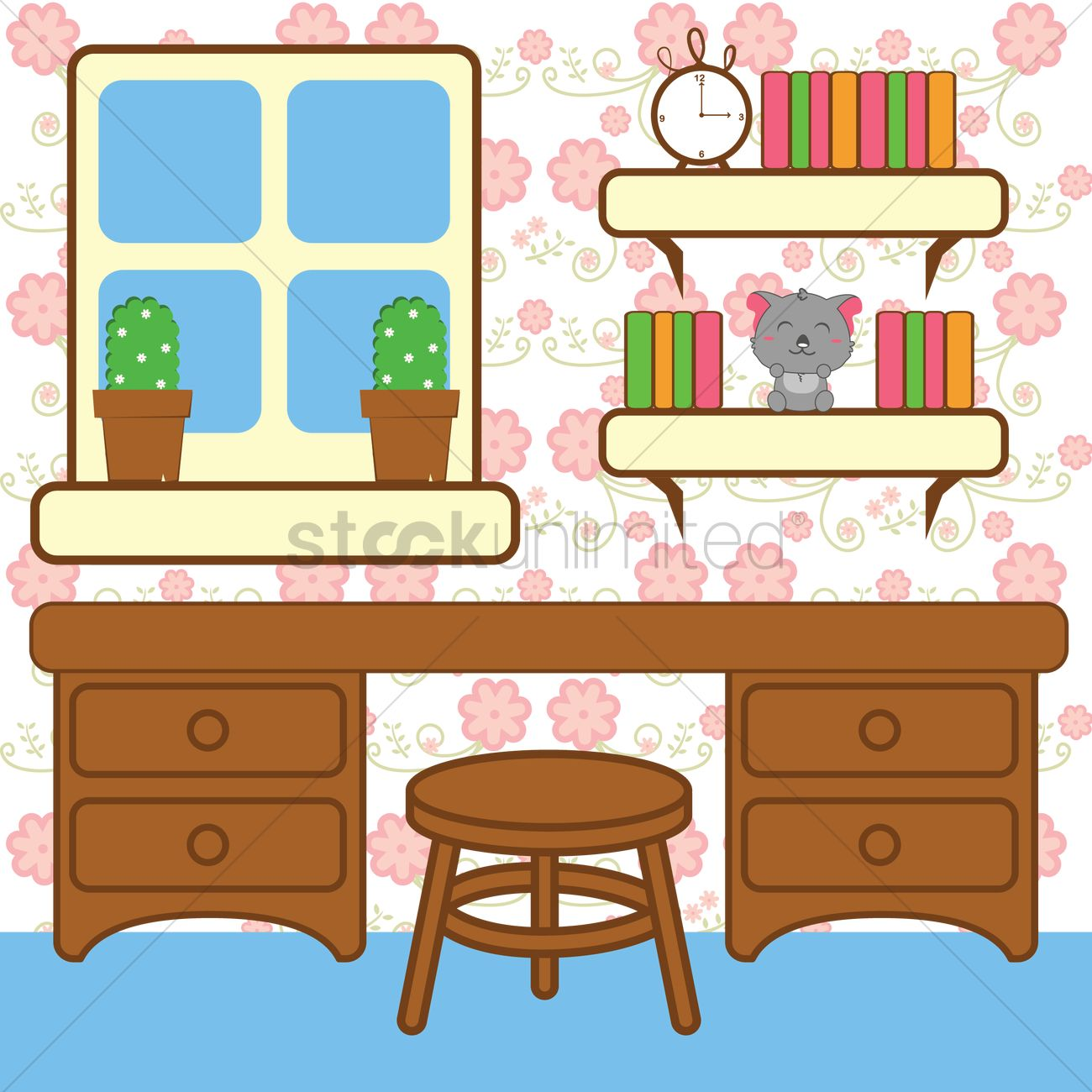 Study room Vector Image - 1429200   StockUnlimited